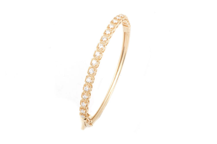 14K Vintage Inspired Diamond Bracelet