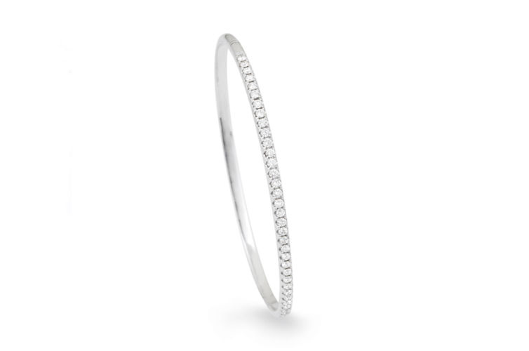 18K Diamond Bangle Bracelet