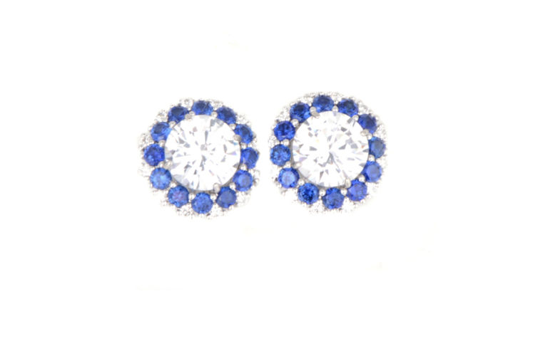 18K Sapphire and Diamond Earring Jackets