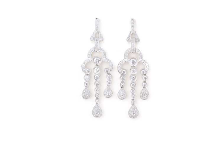 18K Diamond Chandelier Earrings