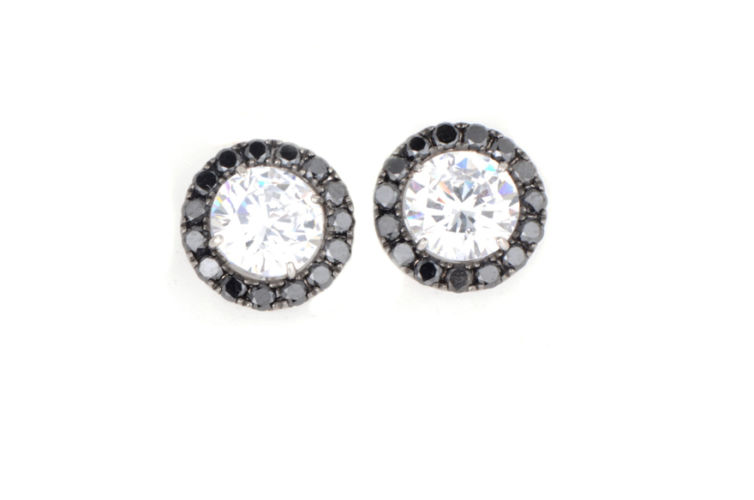 18K Black Diamond Earring Jackets