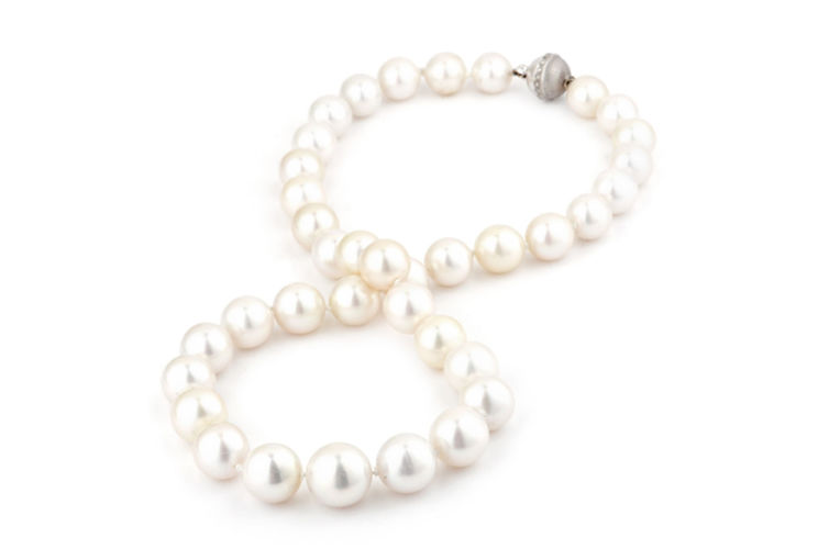 South Sea Pearl Necklace with 14K Ball Clasp