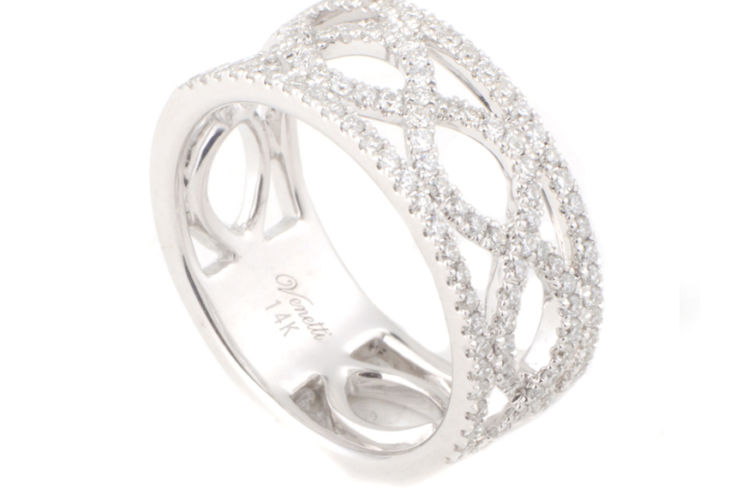 14K Infinity Link Diamond Band