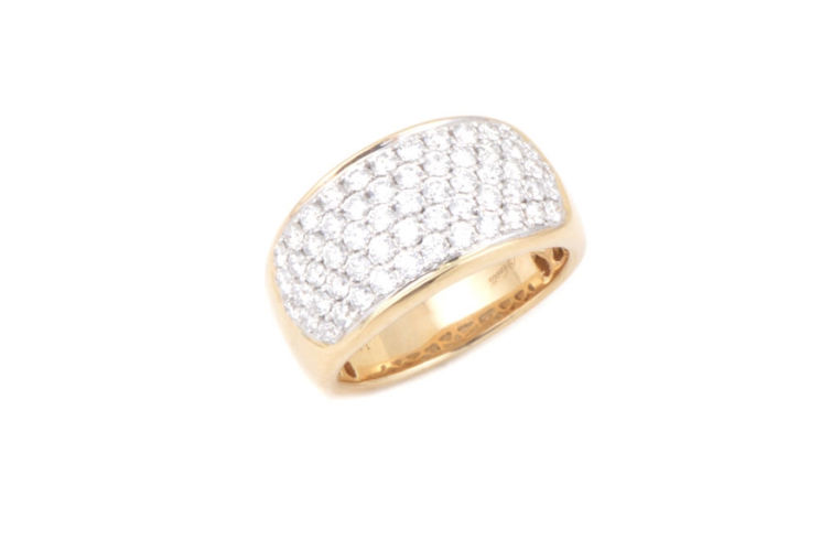 14K Pave Diamond Band