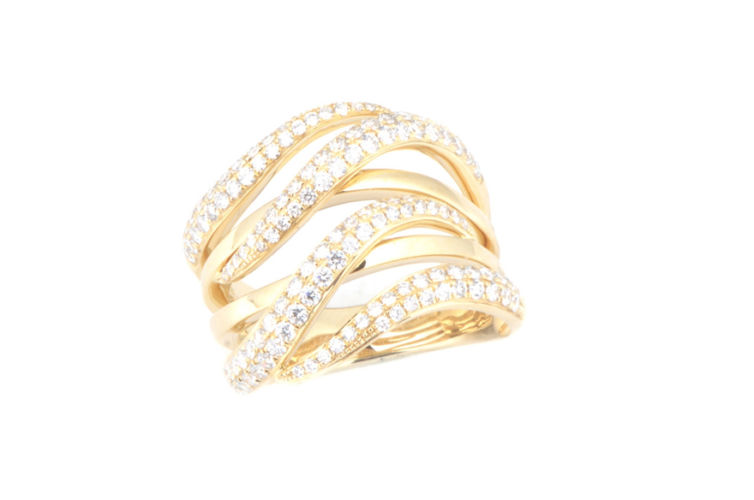 "14K Diamond ""Wave"" Fashion Ring"